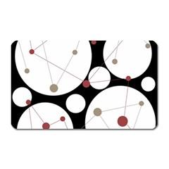 Decorative circles Magnet (Rectangular)