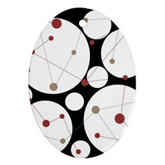 Decorative circles Oval Ornament (Two Sides)