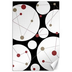 Decorative circles Canvas 24  x 36