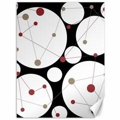 Decorative circles Canvas 36  x 48