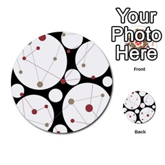 Decorative circles Multi-purpose Cards (Round)