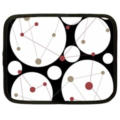 Decorative circles Netbook Case (Large)