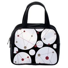 Decorative circles Classic Handbags (One Side)