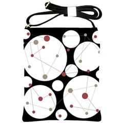 Decorative circles Shoulder Sling Bags