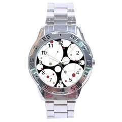 Decorative circles Stainless Steel Analogue Watch
