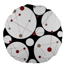 Decorative circles Large 18  Premium Round Cushions