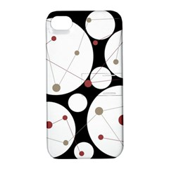 Decorative circles Apple iPhone 4/4S Hardshell Case with Stand