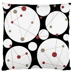 Decorative circles Large Flano Cushion Case (One Side)