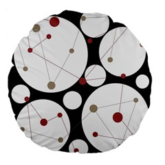 Decorative circles Large 18  Premium Flano Round Cushions