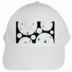 Decorative circles - blue White Cap