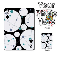Decorative circles - blue Playing Cards 54 Designs