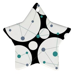 Decorative circles - blue Star Ornament (Two Sides)