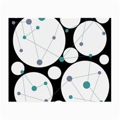 Decorative circles - blue Small Glasses Cloth (2-Side)