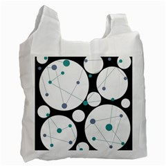 Decorative circles - blue Recycle Bag (Two Side)