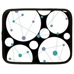 Decorative circles - blue Netbook Case (XXL)
