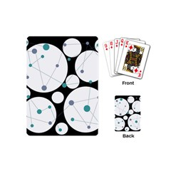 Decorative circles - blue Playing Cards (Mini)