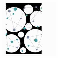 Decorative circles - blue Large Garden Flag (Two Sides)
