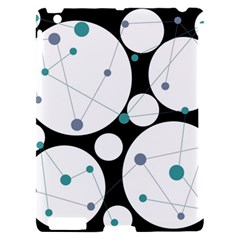 Decorative circles - blue Apple iPad 2 Hardshell Case (Compatible with Smart Cover)