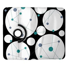 Decorative circles - blue Samsung Galaxy Note II Flip 360 Case