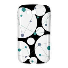 Decorative circles - blue Samsung Galaxy Grand GT-I9128 Hardshell Case