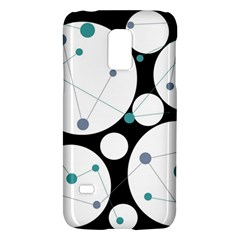 Decorative circles - blue Galaxy S5 Mini