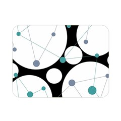 Decorative circles - blue Double Sided Flano Blanket (Mini)