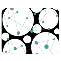 Decorative circles - blue Double Sided Flano Blanket (Medium)