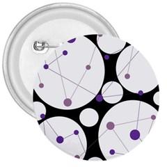 Decorative circles - purple 3  Buttons
