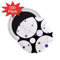 Decorative circles - purple 2.25  Magnets (100 pack)