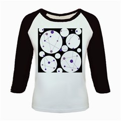 Decorative circles - purple Kids Baseball Jerseys
