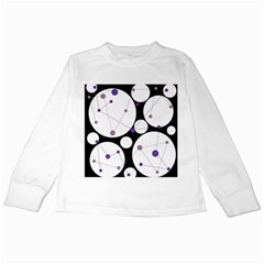 Decorative circles - purple Kids Long Sleeve T-Shirts