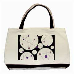 Decorative circles - purple Basic Tote Bag (Two Sides)