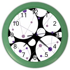 Decorative circles - purple Color Wall Clocks