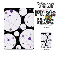 Decorative circles - purple Multi-purpose Cards (Rectangle)