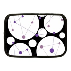 Decorative circles - purple Netbook Case (Medium)