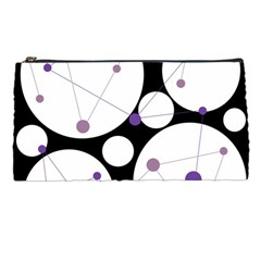 Decorative circles - purple Pencil Cases