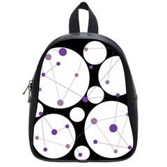 Decorative circles - purple School Bags (Small)