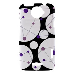 Decorative circles - purple HTC One X Hardshell Case