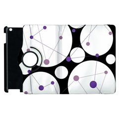 Decorative circles - purple Apple iPad 3/4 Flip 360 Case