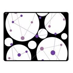 Decorative circles - purple Double Sided Fleece Blanket (Small)