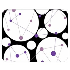 Decorative circles - purple Double Sided Flano Blanket (Medium)