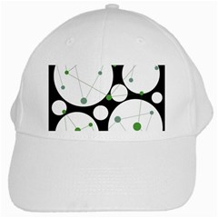 Decorative circles - green White Cap