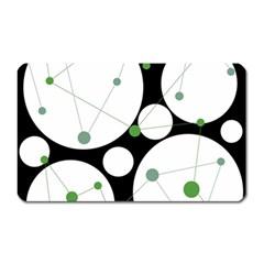 Decorative circles - green Magnet (Rectangular)