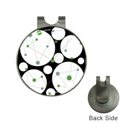 Decorative circles - green Hat Clips with Golf Markers