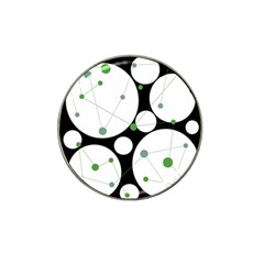 Decorative circles - green Hat Clip Ball Marker (4 pack)
