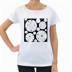 Decorative circles - green Women s Loose-Fit T-Shirt (White)
