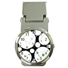 Decorative circles - green Money Clip Watches