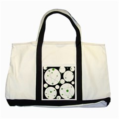 Decorative circles - green Two Tone Tote Bag