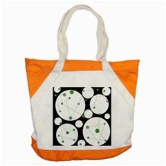 Decorative circles - green Accent Tote Bag