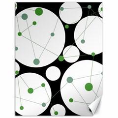 Decorative circles - green Canvas 18  x 24